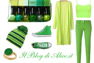 Outfit in verde