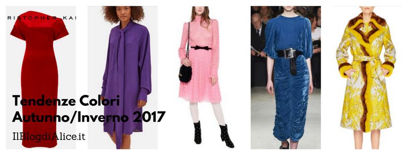 Moda Autunno Inverno 2017 2018: colori di tendenza
